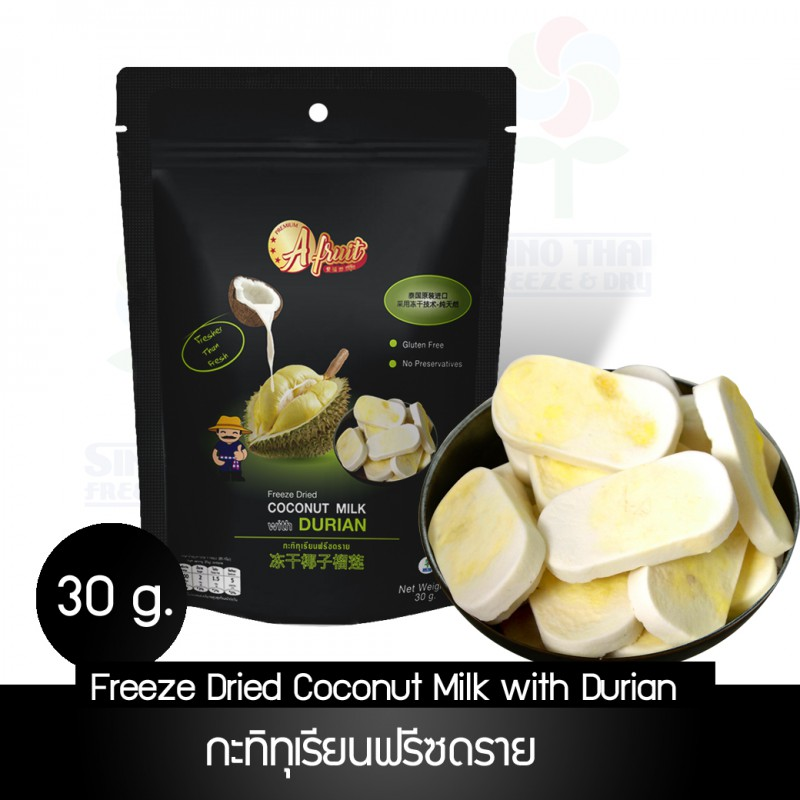 Freeze dried Coconut milk with durian 30 /Black Bag