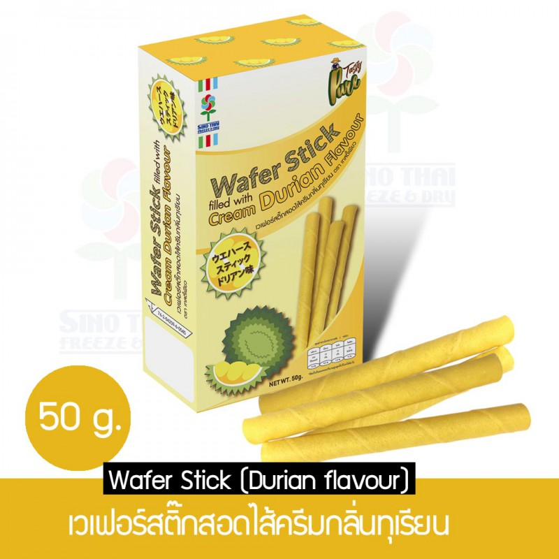 Wafer stick filled with cream Durian flavour